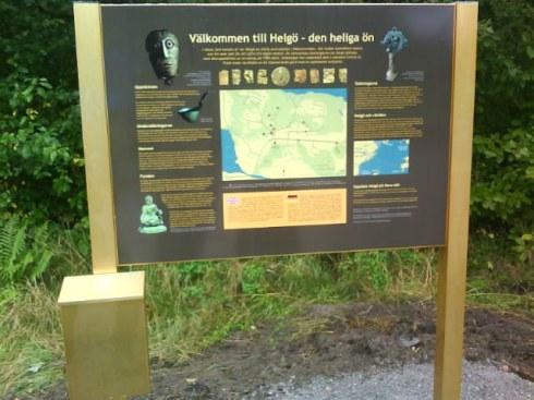 Startplatsen där en guidefolder kan plockas ur den gyllene brevlådan!
